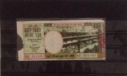 Lotterie / Lottery Of South Vietnam Viet Nam Open On 28 Jan 1969 - Lottery Tickets