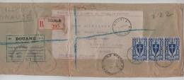 TP Cameroun France Libre S/Echantillon Recommandé Douala 5/1/43 Censure Douane V.Londres PR3233 - Cameroun (1915-1959)