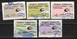 REPUBBLICA DOMENICANA - 1989 - LOTTA CONTRO LA DROGA - USATI - Dominicaine (République)