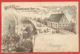 67 - STRASBOURG - NEUHOF - GRUSS Vom ALTENHEIMER HOF Am RHEIN - Litho - Gasthaus Von M. WINTER - Strasbourg