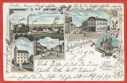 67 - GRUSS Aus SCHILTIGHEIM - Litho Couleur Multivues - Paulus Bad - Gemeinde Haus - Neugasse - Schiltigheim