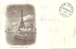 FRANCIA PARIS  Tour Eiffel Octobre 1900  Paris Exposition  Cachet Rouge Sommet  Plate Forme - Tour Eiffel