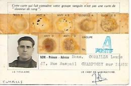 (1930) - CHAMPIGNY-SUR-MARNE (94) - LABORATOIRE Du Dr Michel Jarrossay - Ancienne Carte De GROUPE SANGUIN - Documents Historiques