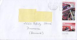 Spain SEVILLA 2016 Cover Letra BRØNDBY STRAND Denmark Motorcycle Stamps - 1931-Heute: 2. Rep. - ... Juan Carlos I