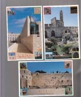 Israel- Lot Of 3 Postcards- 3000 Years- Jerusalem - Israel