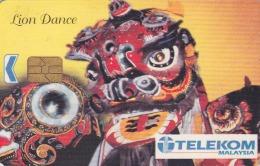 MALAYSIA Lion Dance Chinese Chip Telekom Phonecard Used - Malaysia