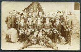 Switzerland Musical Band Postcard / Schweiz Militar Musikkapellen Postkarten - Music And Musicians