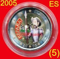 2 Euro COULEUR Farbe Color ESPAGNE 2005 Colorisée (5ème) En Capsule, Pièce Commémorative De 2,oo Euro, Le 4e Centenaire - Espagne
