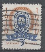 Canada 1960, Scott #389 Girl Guide Emblem (U) - 1952-.... Règne D'Elizabeth II