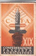 TESSERA-C.F.A.-XIX -CONFEDER. NAZ. FASCISTA DEGLI AGRICOLTORI-SEZ. DI ALESSANDRIA-BUONA CONSERVAZIONE-2 SCAN - Publicités