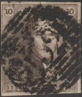 Belgique 1849 COB 1, 10 C Épaulette. Apparemment P 152, Usage Tardif De Plaschendaele - Postmark Collection