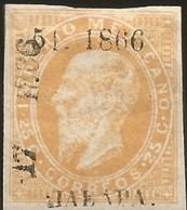 J) 1866 MEXICO, EMPEROR MAXIMILIAN 25 CENTS, JALAPA, XF - Mexico