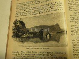 Grauwitz Bei See Mondsee Austria Print Engraving  1907 - Stiche & Gravuren