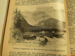 Vorderer Langbathsee Ebensee Kaiserlisches Jagdschloss Austria Print Engraving  1907 - Stiche & Gravuren