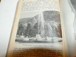 Springbrunnen Vor Der Kaiserliches Villa In Bad ? Ischl Austria Print Engraving  1907 - Stiche & Gravuren