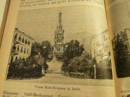 Bad Ischl Franz Karl Brunnen Austria Print Engraving  1907 - Stiche & Gravuren