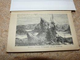 Mondsee Attersee Wolfgangsee Schafberg Austria Print Engraving  1907 - Stiche & Gravuren