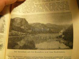Der Grundlsee Backenstein Austria Print Engraving  1907 - Stiche & Gravuren