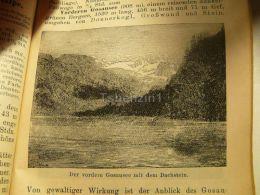 Der Vordere Gosausee Dachstein Austria Print Engraving  1907 - Stiche & Gravuren