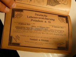 Potsdam Deutsche Lebenversicherung Werbung 1907 - Reklame