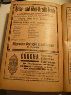 Leipzig Reise Und Welt Kredit Briefe Brandenburg Corona Fahrrader Motorrader Motorwagen Werbung 1907 - Reklame