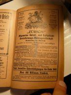 Berlin Frankfurt München Wien Paris Brüssel Mailand Barcelona Zürich Allgemeine Unfall Und Versicherungs Werbung 1907 - Reklame