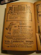 Frankfurt Heinrich Zeiss Union Bücherschranke Göttingen Wilh. Lambrecht Wettervorhersage Werbung 1907 - Reklame