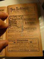 Tee Schmidt Cacao Chokolade Frankfurt Berlin Lausanne Stuttgart Autotypien Leipzig Liliput Wörterbücher Werbung 1907 - Reklame