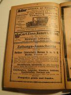 Adler Automobile Und Kleinautos Frankfurt Carl Zinn Neumarkt B. Nürnberg Berlin Werbung 1907 - Reklame