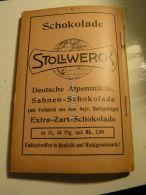 Stollwerck Schokolade Werbung 1907 - Reklame