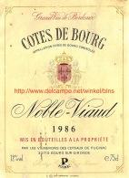 Cotes De Bourg Noble-Viaud 1986 - Art Populaire