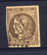 France  Yv  47   (o)   Ex 3 - 1870 Ausgabe Bordeaux
