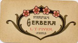 Carte Parfumée   Gerbera  Piver, Calendrier 1921 - Cartes Parfumées