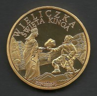 Poland, Souvenir Jeton, Wieliczka Salt Mine, Holy Queen. - Tokens & Medals