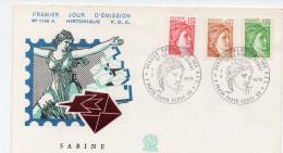 FDC FRANCEFDC FRANCE Sabine    75  Paris    Y.T N°  2059, 2060,2061 - 1970-1979