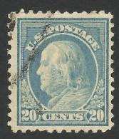 United States, 20 C. 1917, Sc # 515, Mi # 237C, Used - Used Stamps