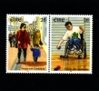 IRELAND/EIRE - 1996  PEOPLE WITH DESABILITIES  PAIR  MINT NH - 1949-... Repubblica D'Irlanda