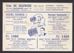 BELGIQUE:CARTE PUB. ETBS. JOS. HILLEWAERE,ANVERS/ANTWERPEN,AVEC TIMBRE PREOBLITERE DE 1947. - Préoblitérés