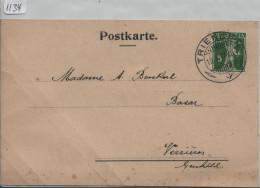 1917 Tellknabe 125III - Carte Postale Von Triengen Nach Verrieres - Switzerland