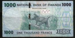 1000 Francs Rwandais (RWF), Billet Bon état - Rwanda
