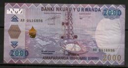 2000 Francs Rwandais (RWF), Café Rwandais, Billet Bon état - Rwanda