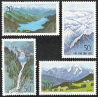 China (PRC),  Scott 2016 # 2700-2703,  Issued 1996,  Set Of 4,  MNH,  Cat $ 1.45,  Waterfalls - 1949 - ... République Populaire