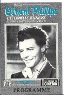 Programme De Cinéma - GERARD PHILIPPE L'éternelle Jeunesse - Festival Au Cinéma Reflet Medicis Paris - 1991 - Programmes