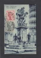 ITALIE:YVERT NOS 113 ET 114  SUR CARTE POSTALE. - Marcophilie