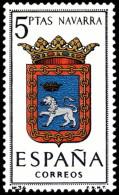 ESPAÑA SEGUNDO CENTENARIO NUEVO Nº 1560 ** 5P NAVARRA ESCUDOS - 1961-70 Neufs