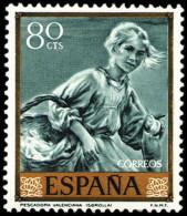 ESPAÑA SEGUNDO CENTENARIO NUEVO Nº 1569 **80C VERDE AZULADO JOAQUIN SOROLLA - 1961-70 Neufs
