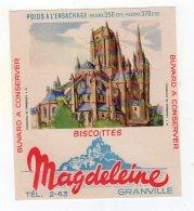 Juil16    75630    Buvard  Biscottes Magdeleine    Cathédrale De Coutances - Andere