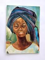Carte Postale Ancienne : NIGERIA : African Beauty, Stamp 1975 - Nigeria