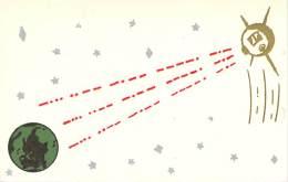 Amateur Radio QSL - K1QZV - Cranston, RI -USA- 1965 - 2 Scans - Radio Amateur