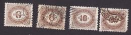 Austria, Scott #J24, J27-J28, J31, Used, Postage Due, Issued 1899 - Segnatasse